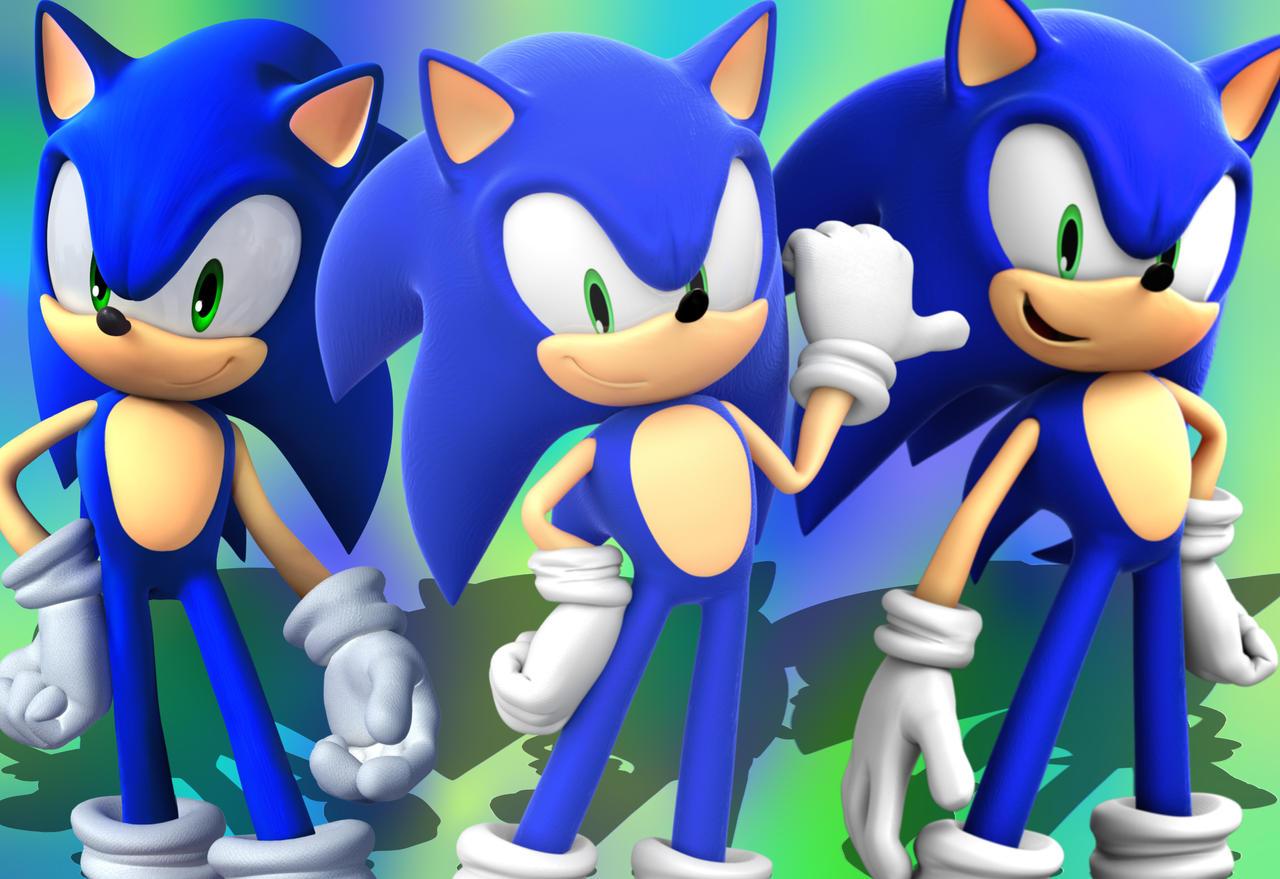 Modern Sonic Wallpaper By Projectsonicandeevee On Deviantart