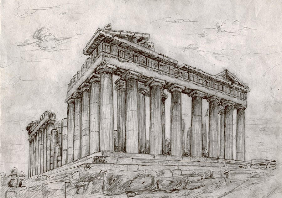 The Parthenon Temple by Adrian87 on DeviantArt