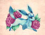 Seasons of Eevee - Glaceon and Camellias