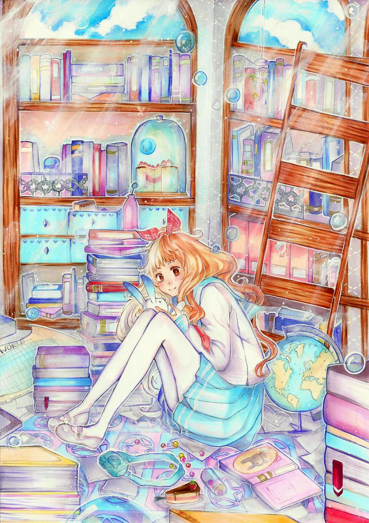Cotton Candy Library by Jagobee