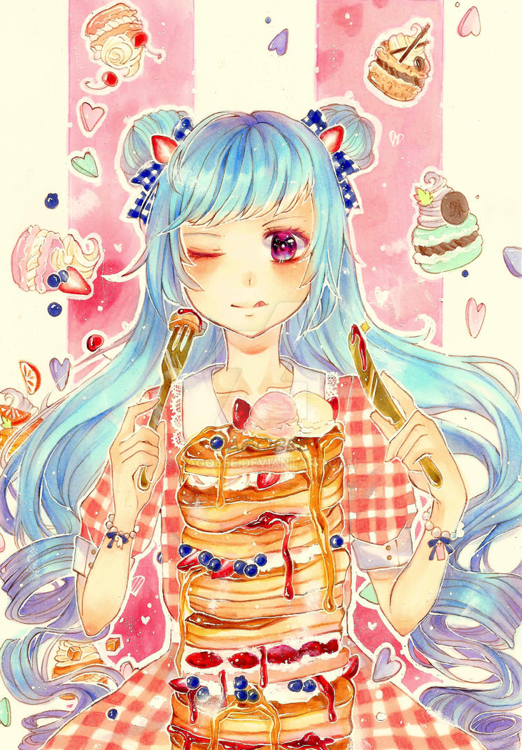 Pancake Love by Jagobee