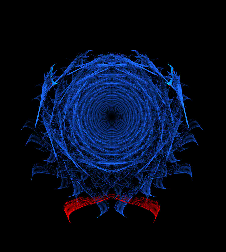 Abstract Orderism Fractal 45 - Wormhole Fractal