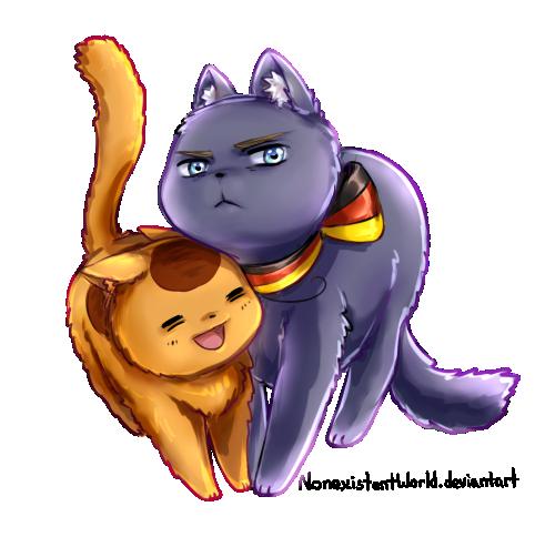 Nekotalia (doodle) by NonexistentWorld