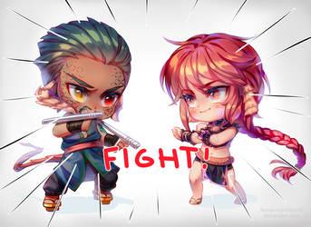 Rin-Ki and Jun-Ka by NonexistentWorld