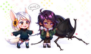 Girls and a Bug (commission) by NonexistentWorld
