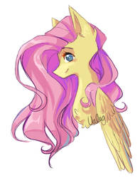 Fluttershy (sketch colored) by xValeox