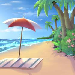 Beach (Backround Practice) by xValeox