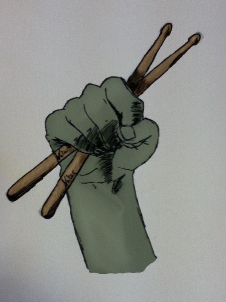 Hand Holding Stick ~ Hand holding drumsticks stage by hairyyetii on deviantart