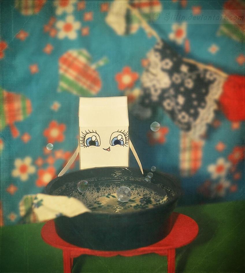 Milky Washday by Siilin