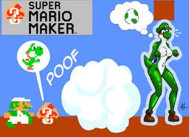 Mystery Mushroom - Yoshi (TF/TG) [Luigi Version] by Sera-fuku
