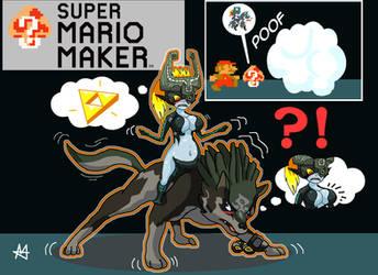 Mystery Mushroom - Wolf Link + Midna (Mario TF/TG) by Sera-fuku