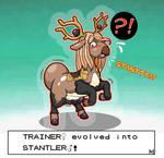 Com: Evolving Into Stantler (Stantler TF/TG)