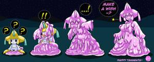 Copying the Wishmaker! (Jirachi Goo TF) by Sera-fuku
