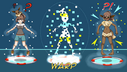 Warp Tiles (Elaine Anthro Eevee TF) by Sera-fuku
