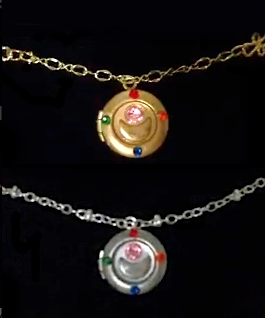 Sailor Moon Jewelry Necklace Locket/Brooch Cosplay by timetraveler24