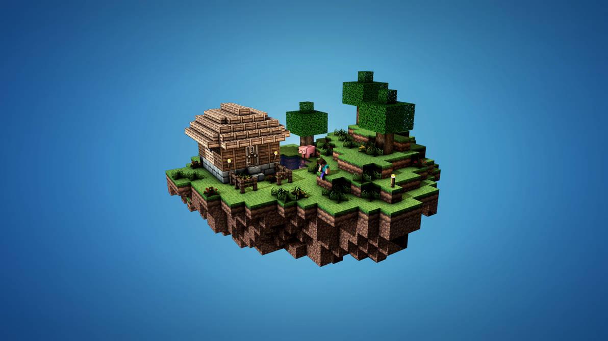Sky Island - Minecraft by TroloByteFX