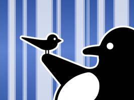 LinuxBird Wallpaper nr.1 Blue