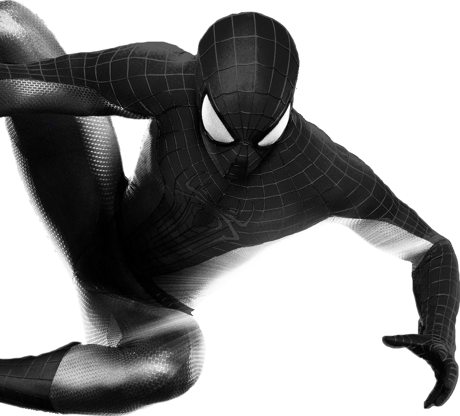 the amazing spider man black gray transparent by asthonx1 on