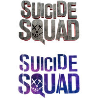 Suicide Squad - Transparent Titles by Asthonx1