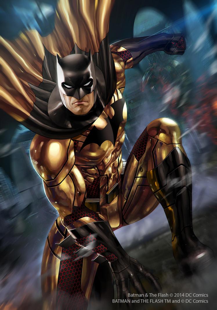 Gold Batman by JUNAIDI