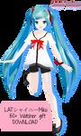 .:MMD LAT Shiny Miku [150+ Watchers Gift]:.