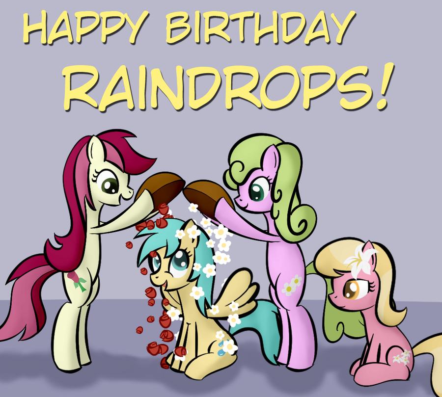 Birthday Raindrops by Why485