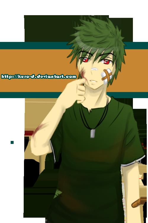 Midori-Guu.... is a bad boy by Kuro-D