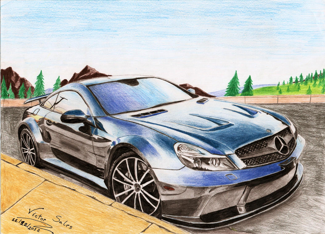 Mercedes benz sl65 amg black series by vsales on deviantart for Mercedes benz e series amg