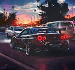 Nissan Skyline R34 study