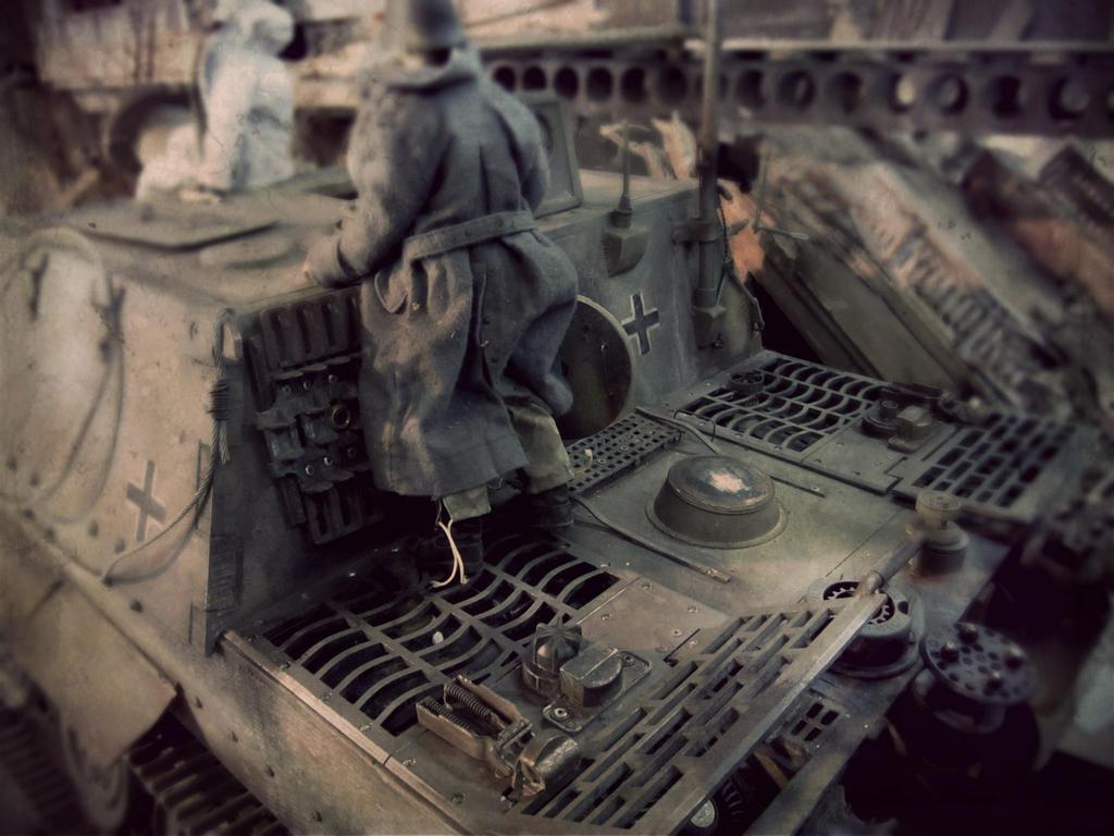 sturm tiger and destroyed bridge dio by furnituresig