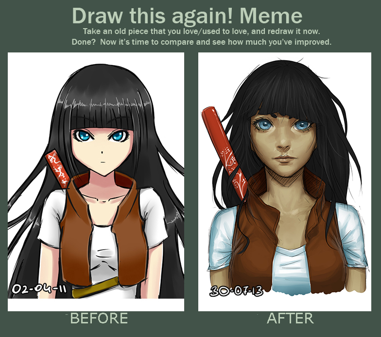 Before and After. by mkw-no-ossan