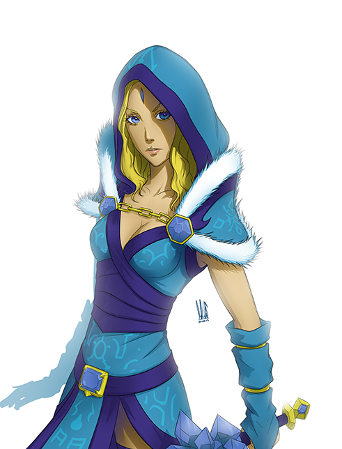 Commission : Crystal Maiden by mkw-no-ossan