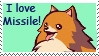 I love Missile stamp by tie-dye-flag