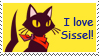 I love Sissel stamp by tie-dye-flag