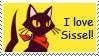 I love Sissel stamp by tie-dye-flag