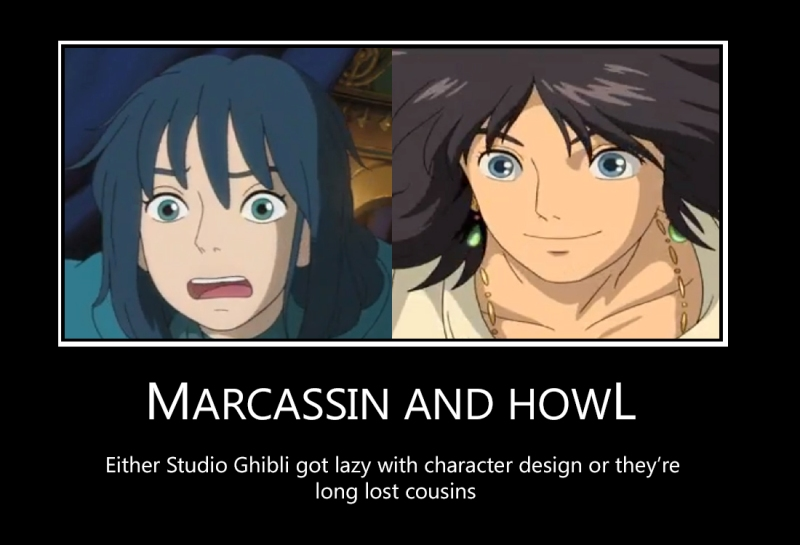 Marcassin and Howl poster by tie-dye-flag