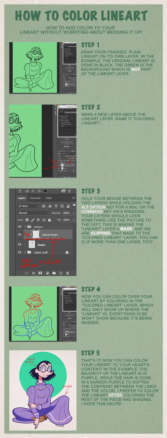 How to color your art in photoshop - Coloring Lineart In Photoshop Tutorial By Tie Dye Flag