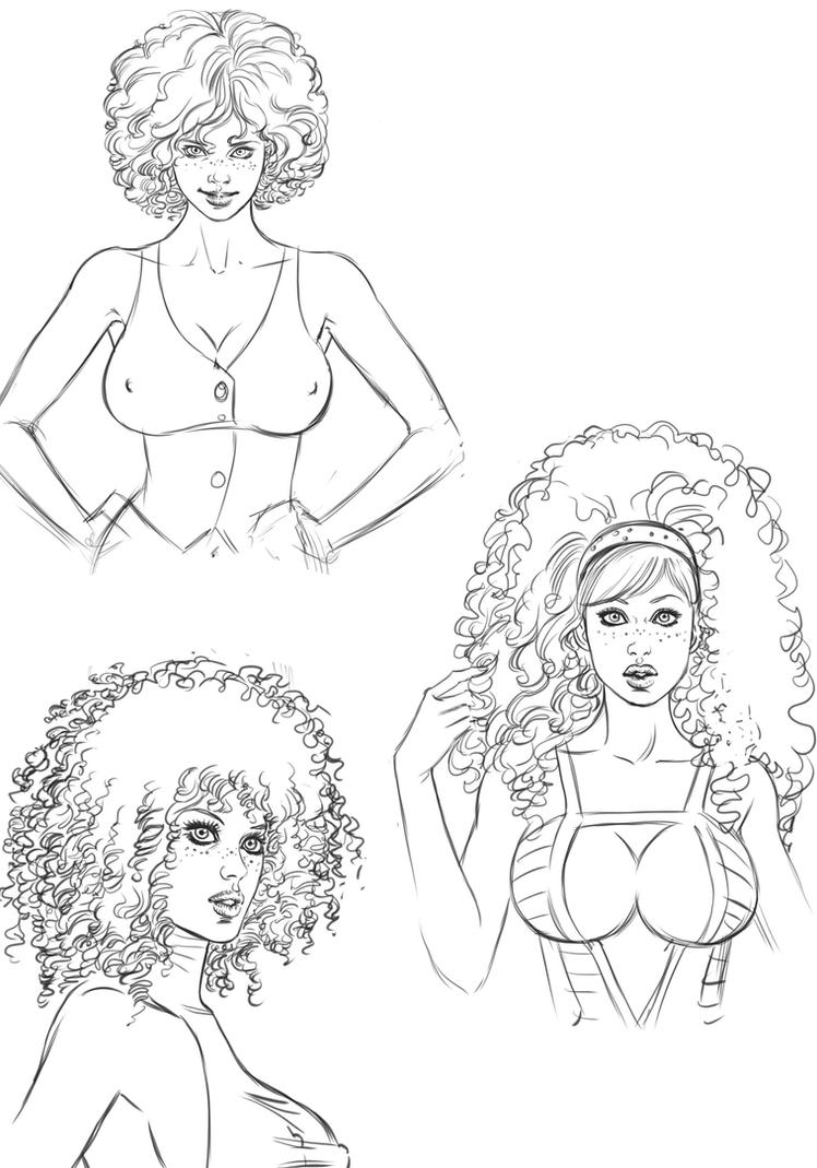 MYRIAM HAIR TEST - YOU CAN COLOR IT, IF YOU WANT by FedericoMemola