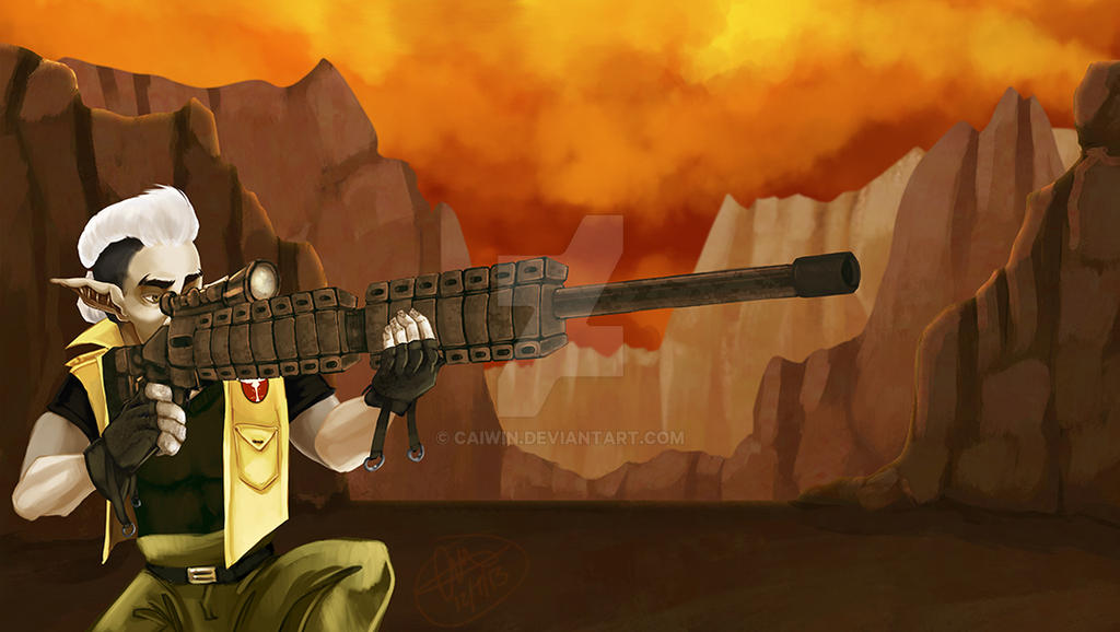 Elven Sniper by Caiwin