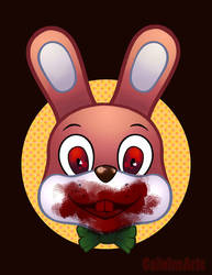 Robbie The Rabbit Bloodied by Caiwin