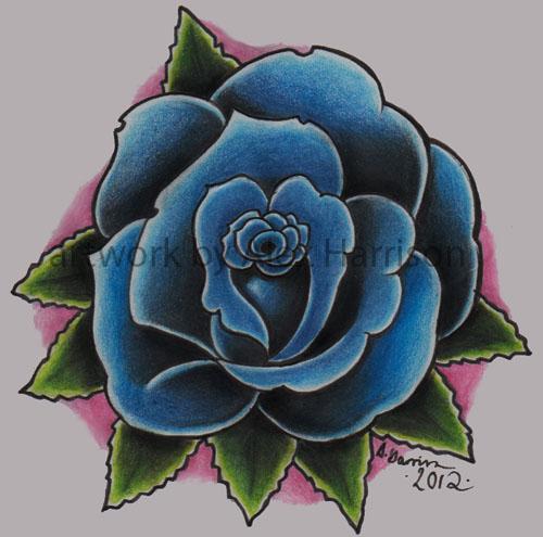 Blue rose tattoo design by Genocide-Al on DeviantArt