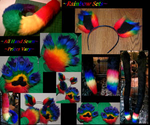 Rainbow Fur Sets CLOSED FOR NOW