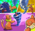 Buizel Battle Moment