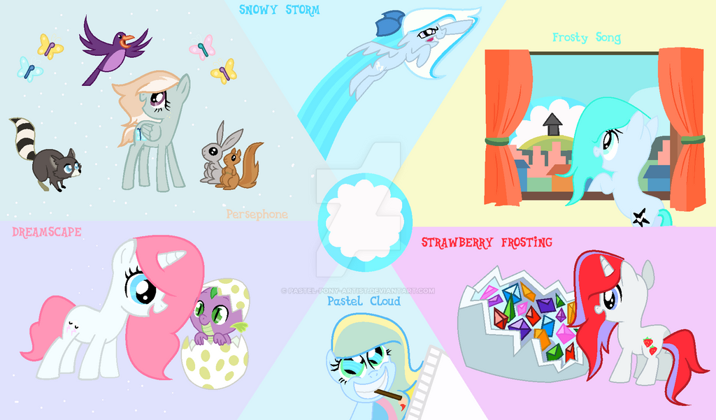 Mlp New Mane 6 Group By Pastel Pony Artist On Deviantart