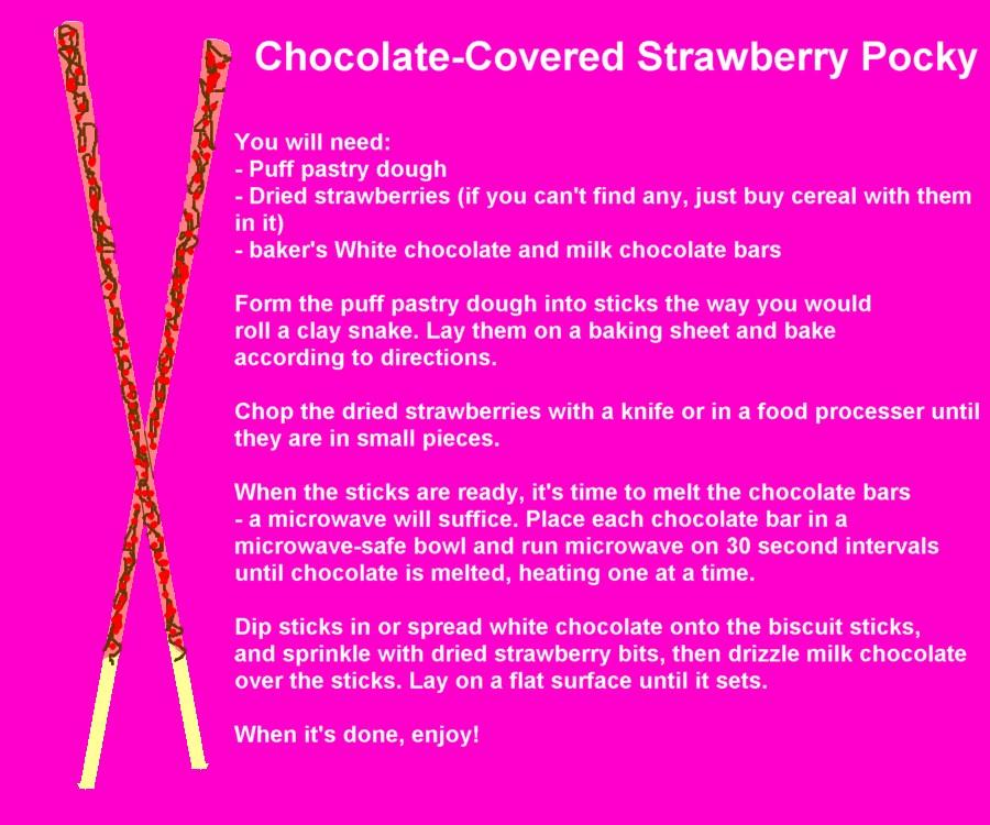 Chocolate-Cov.Strawberry Pocky by UtterPsychosis