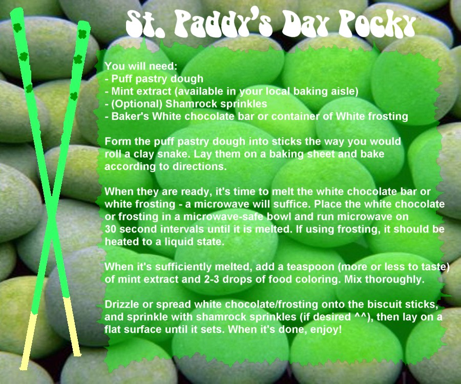 St. Paddy's Day Pocky by UtterPsychosis