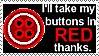 Coraline Button Red stamp by UtterPsychosis
