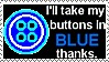 Coraline Button Blue Stamp by UtterPsychosis