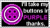 Coraline Button Purple Stamp by UtterPsychosis