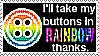 Coraline Button Rainbow Stamp by UtterPsychosis